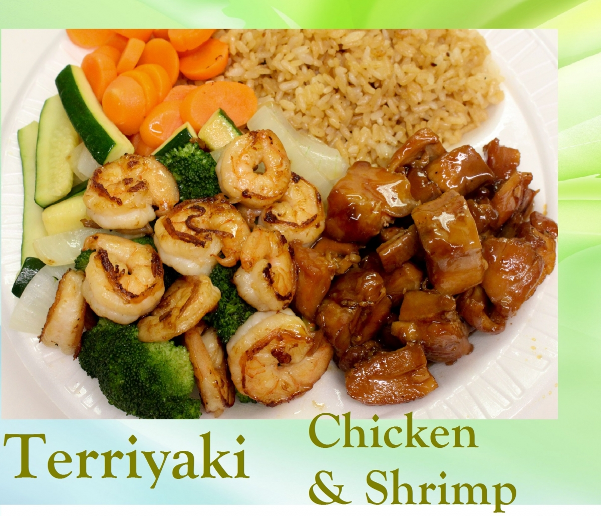 Terriyaki Chicken and Shrimp